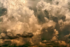 Stormy clouds. Dark clouds predicts stormy weather Stock Images