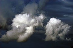 Stormy clouds. Dramatic hazardous atmosphere close up stormy clouds stock photography