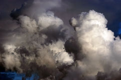 Stormy clouds. Dramatic hazardous atmosphere close up stormy clouds Royalty Free Stock Photos