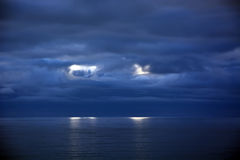 Stormy clouds above the Pacific ocean Stock Image