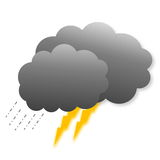Stormy clouds as weather icon Stock Image