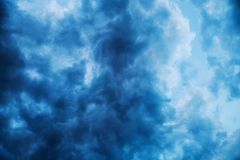 Stormy clouds. Stormy blue clouds texture background royalty free stock images