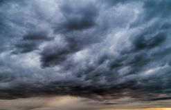 Stormy clouds. Stormy dark blue clouds just before raining stock photography