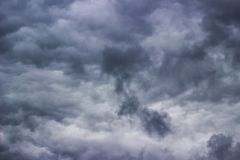 Stormy clouds. Dark ominous stormy cloud scene stock photography
