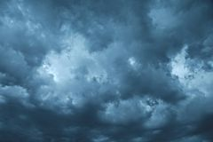 Stormy Clouds. Dark clouds of stormy sky Stock Image