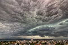 Stormy clouds. Exciting stormy clouds over the city Royalty Free Stock Photos