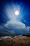 Stormy clouds formations on Vadu beach, Romania Stock Images