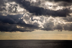 Stormy clouds. Are gathering over North Atlantic ocean, Madeira Royalty Free Stock Images