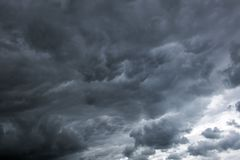 Stormy clouds have tightened the blue sky. Fallen Sky. Stormy clouds have tightened the blue sky royalty free stock photo