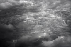 Stormy clouds in HDR. The  powerful storm dark clouds before a thunder-storm in HDR Royalty Free Stock Photo