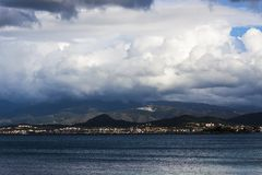 Stormy clouds on the hills near Izmir Turkey Royalty Free Stock Photos
