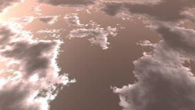 Stormy Clouds Moving Sky Footage Video stock footage