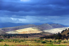 Stormy clouds over Atlas Mountains Royalty Free Stock Photography