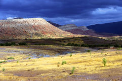 Stormy clouds over Atlas Mountains Stock Photos