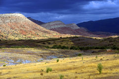 Stormy clouds over Atlas Mountains Stock Photography