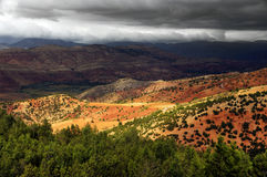Stormy clouds over Atlas Mountains Royalty Free Stock Photos