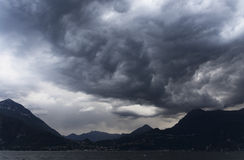 Stormy clouds over Como Lake Stock Images