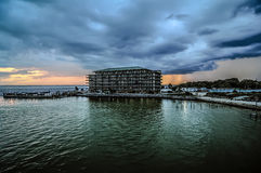 Stormy clouds over destin florida Royalty Free Stock Photos