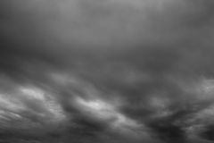 Stormy clouds. The stormy clouds over horizon stock image