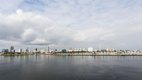 Stormy Clouds over Long Beach Stock Images