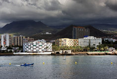 Stormy clouds over Los Cristianos Stock Image
