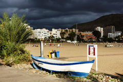Stormy clouds over Los Cristianos Stock Images