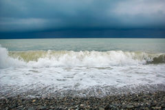 Stormy clouds over ocean Royalty Free Stock Photography