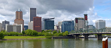 Stormy clouds over portland Oregon. Stock Images