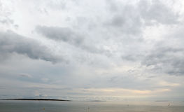 Stormy clouds over sea and islands Royalty Free Stock Image