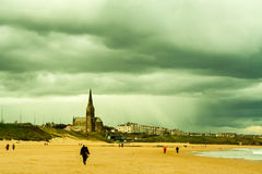 Stormy clouds over Tynemouth coast Stock Photos