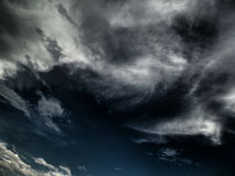 Stormy clouds or overcast sky Stock Photo