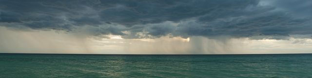 Stormy clouds panorama stock images