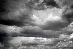 Stormy clouds. Stormy and rainy clouds background Royalty Free Stock Photo