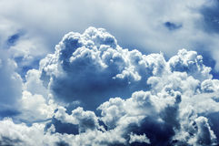 Stormy clouds. Show the power of the nature royalty free stock image