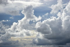 Stormy clouds in the sky Royalty Free Stock Image