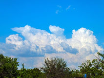 Stormy clouds in the sky. Storm clouds on the blue sky Royalty Free Stock Image