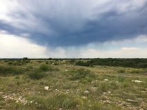 Stormy Clouds. In south Texas Royalty Free Stock Photo