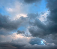 Stormy clouds on summer evening. Stock Photo