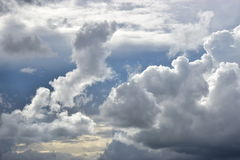 Stormy clouds sunlit Royalty Free Stock Photo