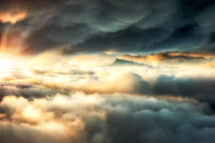 Between stormy clouds Royalty Free Stock Images