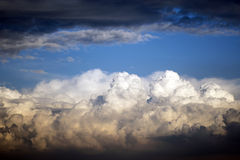 STORMY CLOUDS. With beautiful colours at sunset Stock Photography
