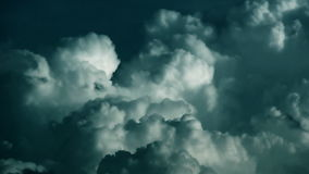 Stormy clouds time lapse, stock footage. Video royalty free illustration