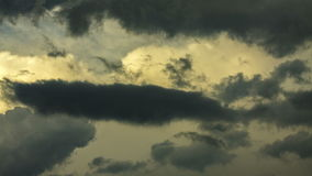 Stormy clouds time lapse stock footage
