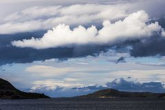 Stormy clouds on the turkish aegean sea Royalty Free Stock Photography