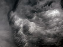 Stormy clouds. Stormy weather and dangerous clouds stock photography