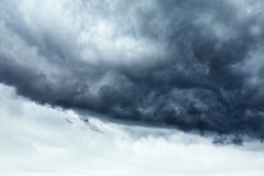 Stormy cloudscape. Background with clear sky part stock image
