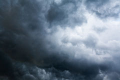 Stormy cloudscape background. With dark and bright part stock photo