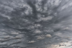 Stormy and Cloudy Blue Sky over the Baltic Sea in Latvia.  Stock Image