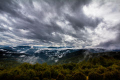 Stormy cloudy mountains sky. Stock Image