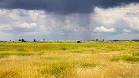 Stormy cloudy sky over the plain Royalty Free Stock Images